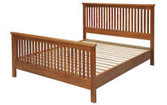 Linear Queen Slatted Bedstead High Foot