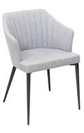 Brooklyn Dining Arm Chair-Pewter