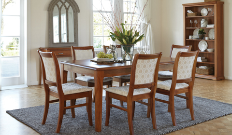 Solid Timber Dining Room Furniture Tables Chairs Entertainments