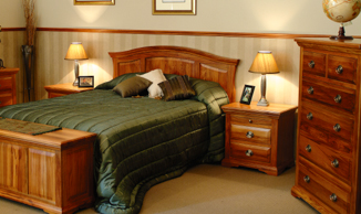 River Crossings Bedroom Sence